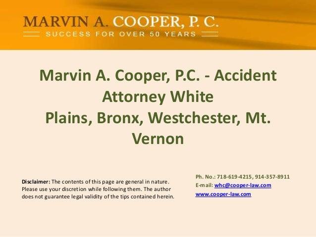 Marvin A. Cooper, P.C. - Accident Attorney White Plains, Bronx, Westchester, Mt. Vernon