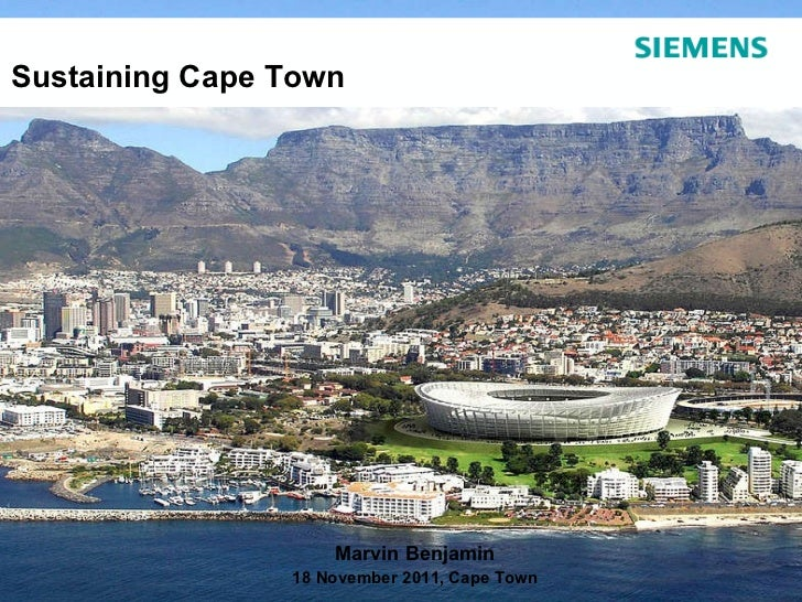 Partnerships to Sustain Cape Town