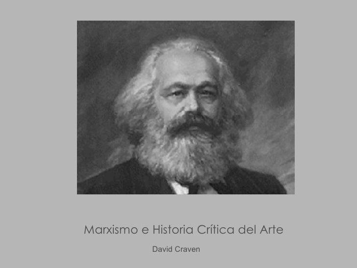 Marxismo e Historia Crítica del Arte David Craven