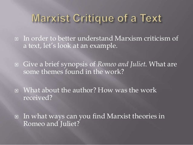 marxist criticism essay Marxist literary criticism essay 470 words 2 pages while literary critics do attempt to elaborate or develop ideas articulated by karl marx, it is important and necessary to make a distinction between marx's specific socio-economic and political agenda and the body of literary theory which emerged years later.