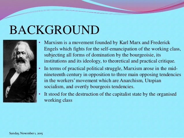 an overview of the latter nineteenth century and the ideas by karl marx Communist manifesto study guide contains a biography of karl marx communist manifesto study they had come in the middle of the 19th century to control.