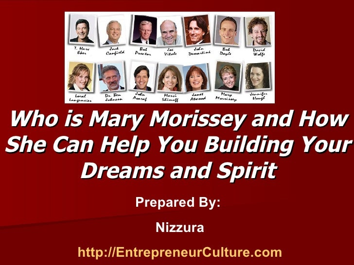The Masters Gathering - Who is Mary Morissey