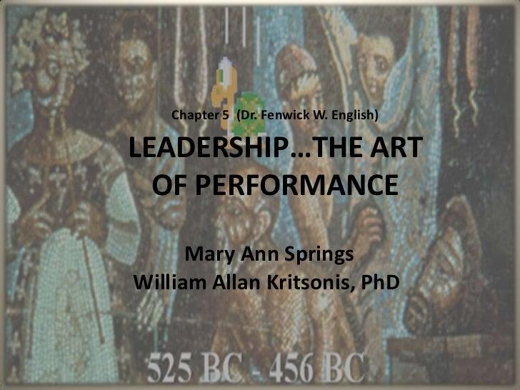 Mary Ann  Springs Ppt (Leadership) Ch 5