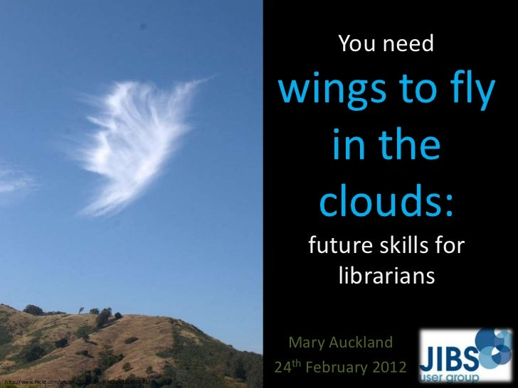 You Need Wings to Fly in the Clouds: Future Skills for Librarians
