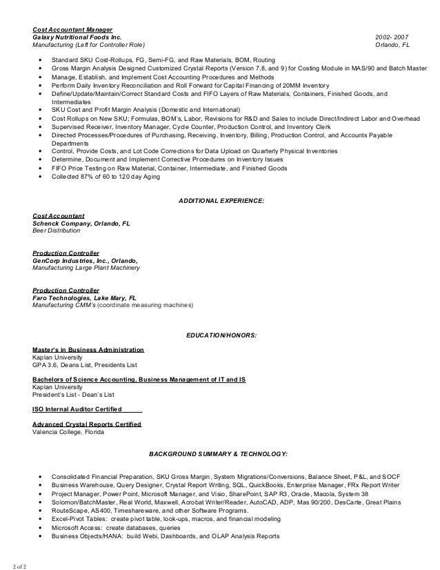 Indian accountant resume sample