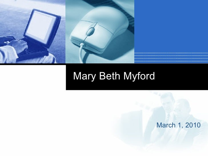 Mary Beth Myford's Experience