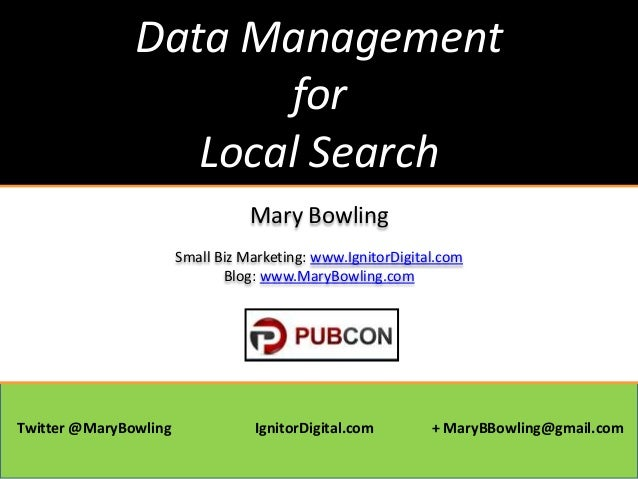 Data Management for Local Search