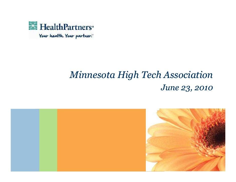 Mary Brainerd, President & CEO of HealthPartners @ Minnesota High Tech Association (MHTA) CEO Briefing