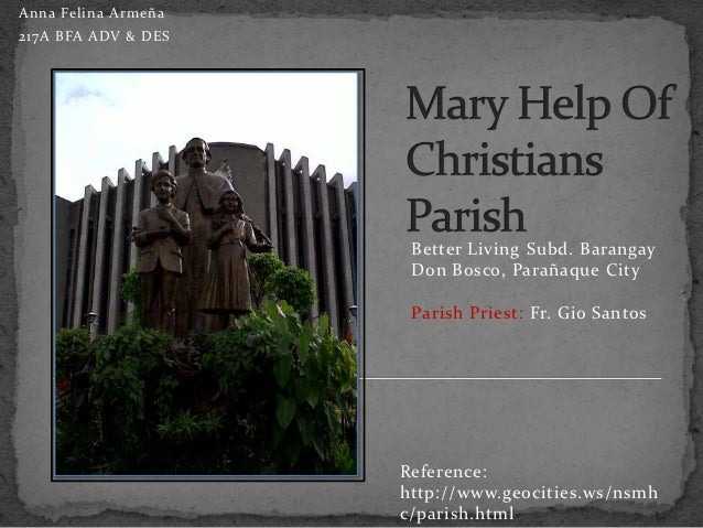 Anna Felina Armeña217A BFA ADV & DES                      Better Living Subd. Barangay                      Don Bosco, Par...