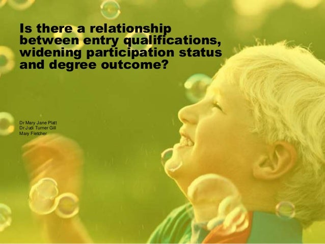 Is there a relationship between entry qualifications, widening participation status and degree outcome? Dr Mary Jane Platt...