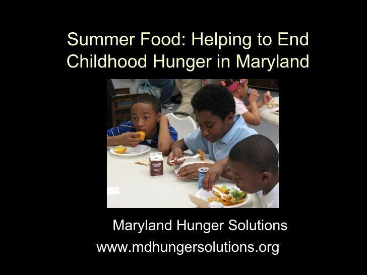 Maryland Summer Food