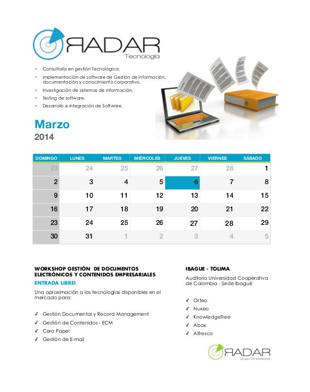 •  Consultoría en gestión Tecnológica.  •  Implementación de software de Gestión de información, documentación y conocimie...
