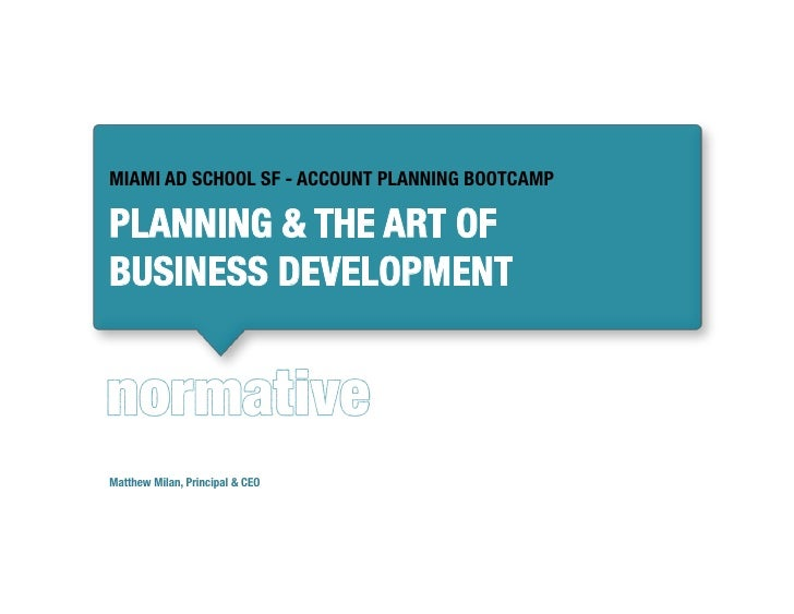 Planning & the Art of Business Development