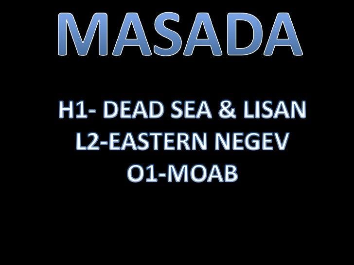 Masada region