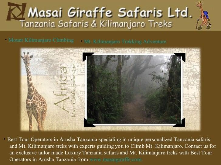 <ul><li>Mount Kilimanjaro Climbing </li></ul><ul><li>Mt. Kilimanjaro Trekking Adventure </li></ul><ul><li>Best Tour Operat...