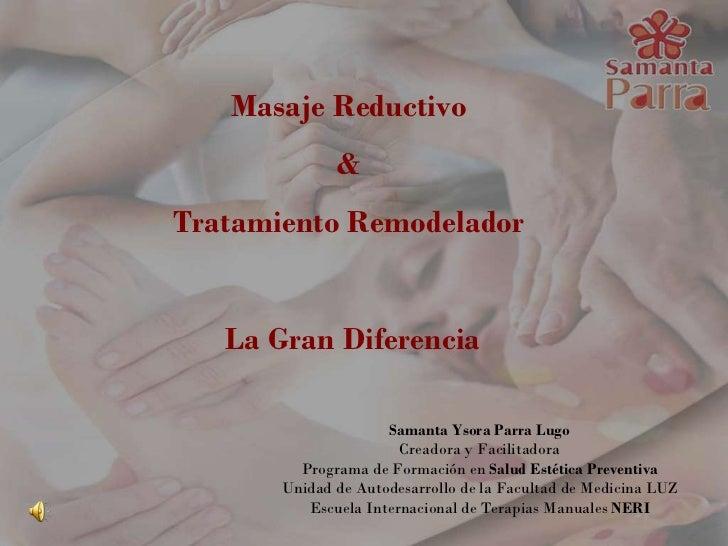 Masajes Reductivo & Remodelador