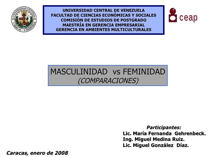UNIVERSIDAD CENTRAL DE VENEZUELA FACULTAD DE CIENCIAS ECONÓMICAS Y SOCIALES COMISIÓN DE ESTUDIOS DE POSTGRADO MAESTRÍA EN ...