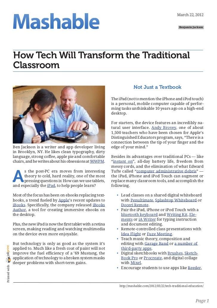 Mashable.com how-tech-will-transform-the-traditional-classroom