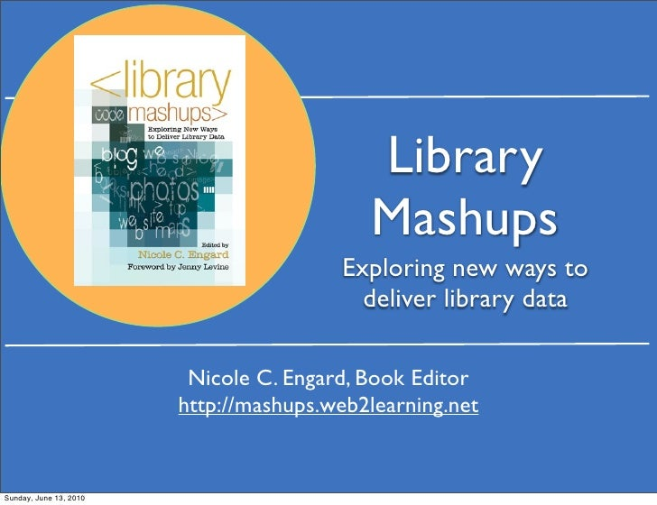 Library mashups: Exploring new ways to deliver library data