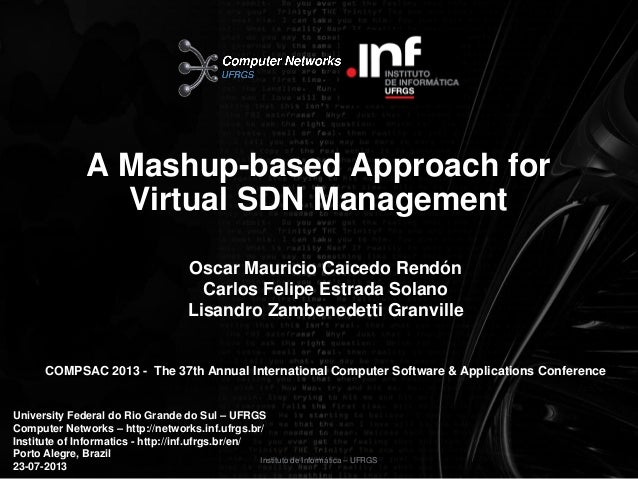 A Mashup-based Approach for Virtual SDN Management