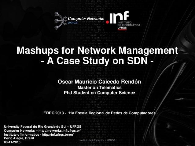 Mashups for Network Management