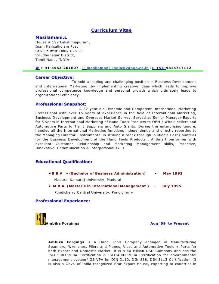 Business Analyst Curriculum Vitae