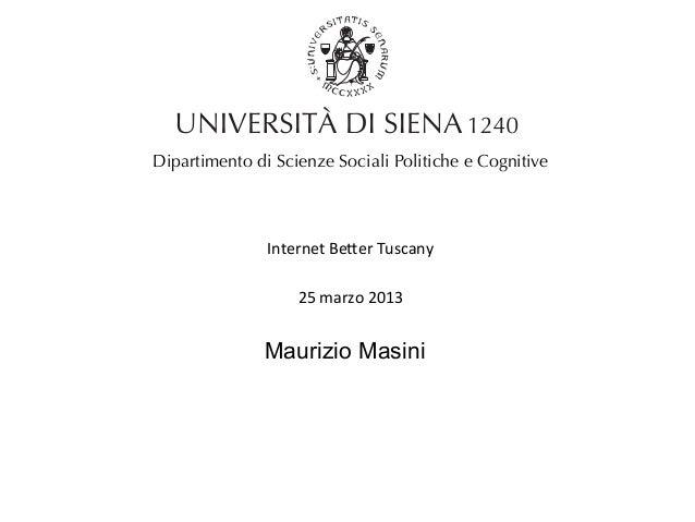 Social Media Tourism - Maurizio Masini