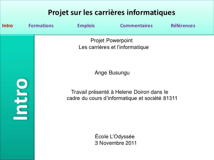 Projet Powerpoint