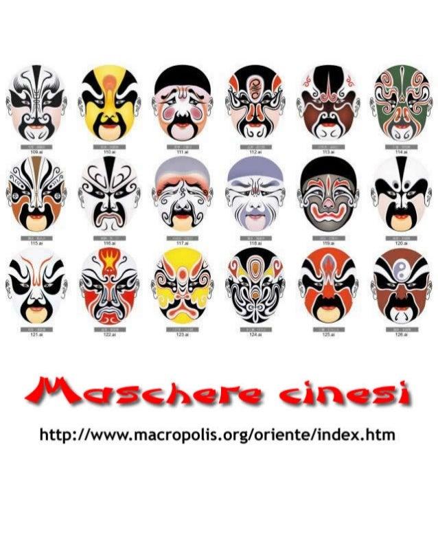 Maschere cinesi