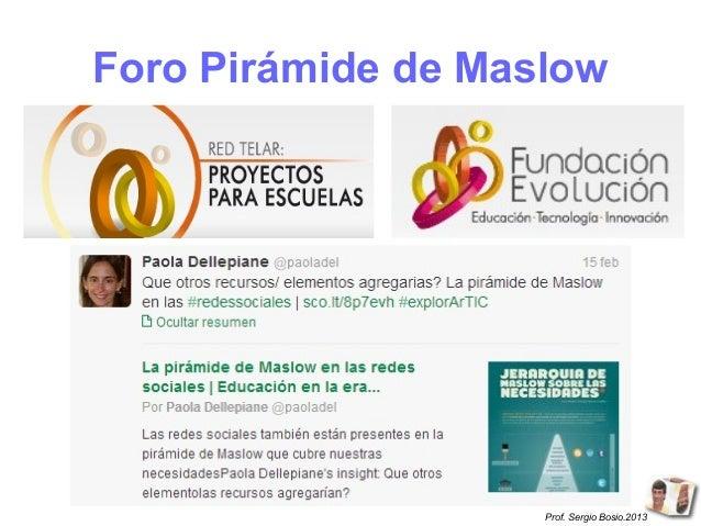 Foro Pirámide de Maslow                    Prof. Sergio Bosio.2013