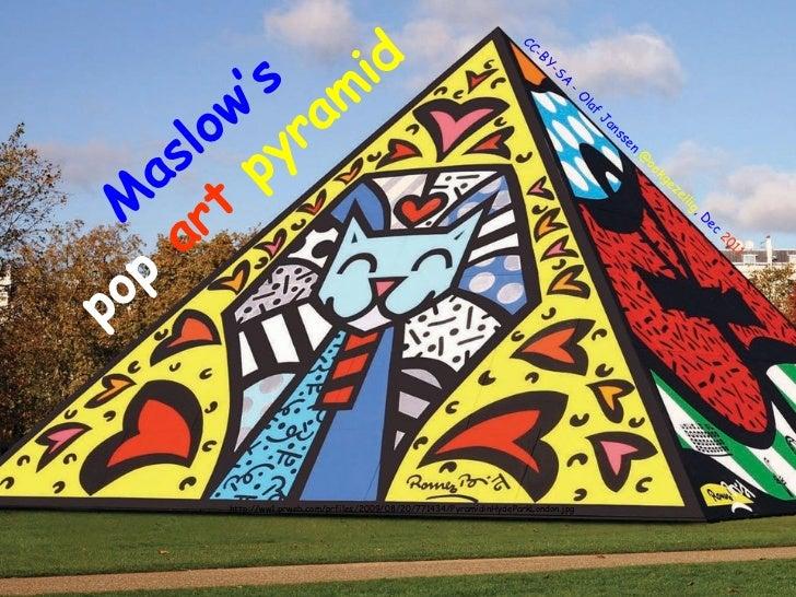 Maslow's pyramid in pop art