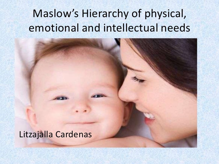 Maslow's Hierarchy of physical, emotional and intellectual needs<br /> Litzajalla Cardenas<br />