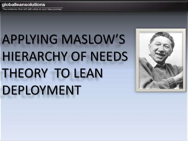 APPLYING MASLOW'SHIERARCHY OF NEEDSTHEORY TO LEANDEPLOYMENT