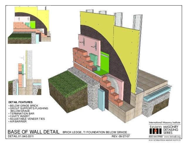 Masonry detailing series v 3 4 for Florida building code interior walls