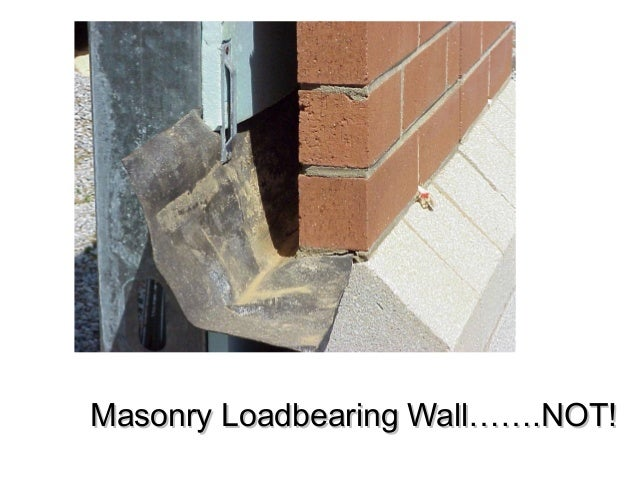 Masonry Loadbearing Wall…….NOT!Masonry Loadbearing Wall…….NOT!
