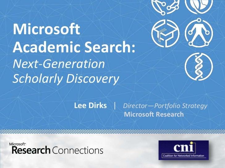   Director—Portfolio Strategy   Microsoft Research