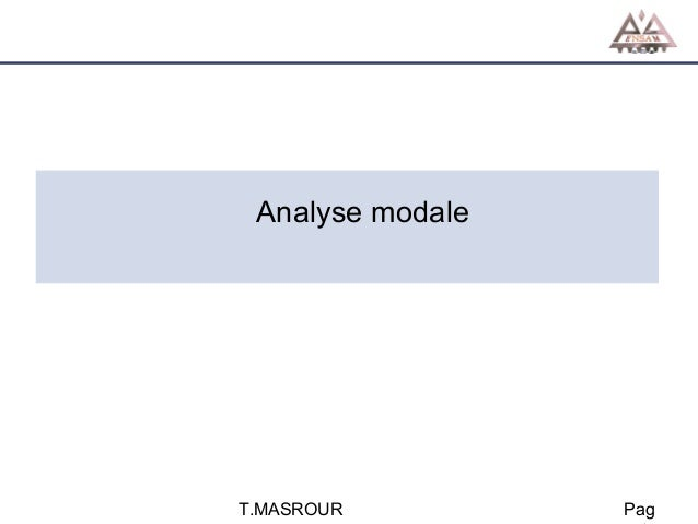 Analyse modale  T.MASROUR  Pag