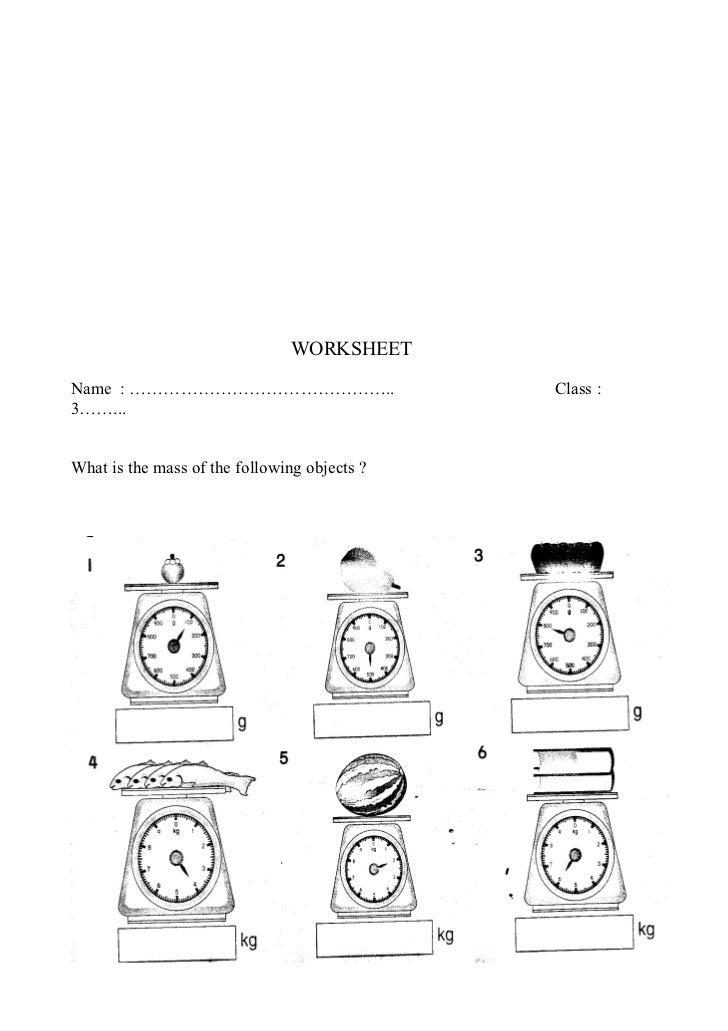 Free Worksheets grams kilograms worksheet : Mathmeatics Year 3_RPH Mass