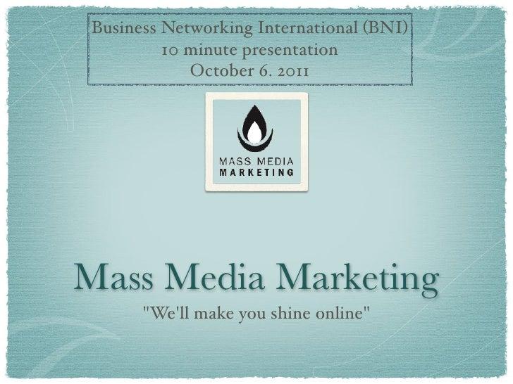 Mass media-marketing- 10-minute-presentation