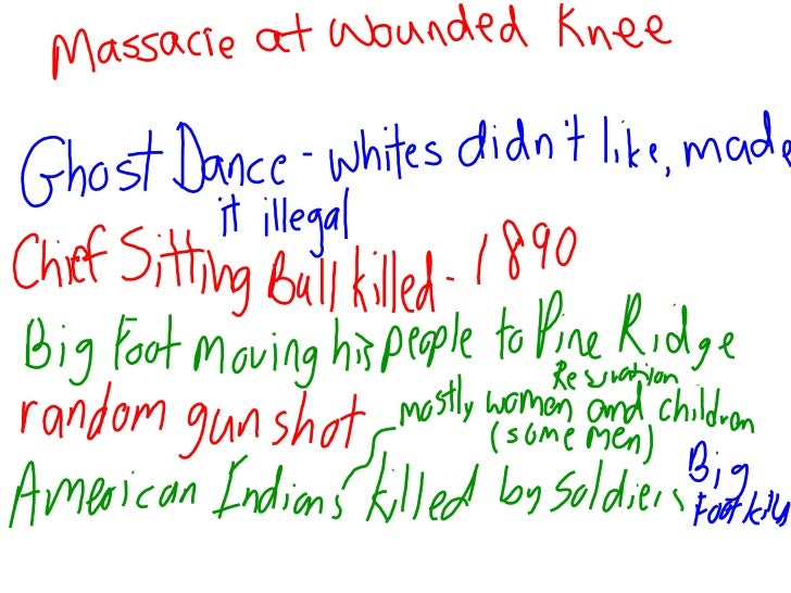 Massace at wounded knee notes