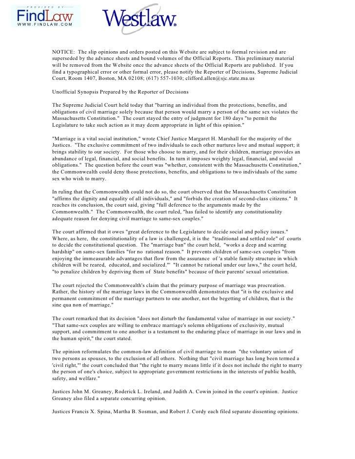 Sentencia matrimonio gay Massachusetts Editada Para Imprimr