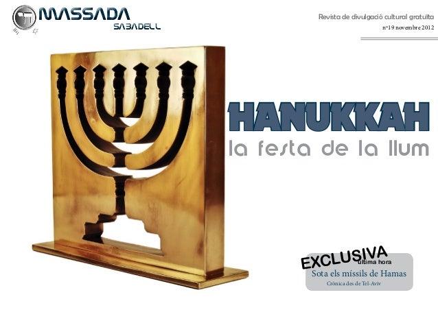 MASSADA                Revista de divulgació cultural gratuïtaSABADELL                                       nº19 nove...