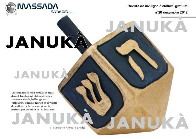 MASSADA                                                            Revista de divulgació cultural gratuïta     SABADEL...