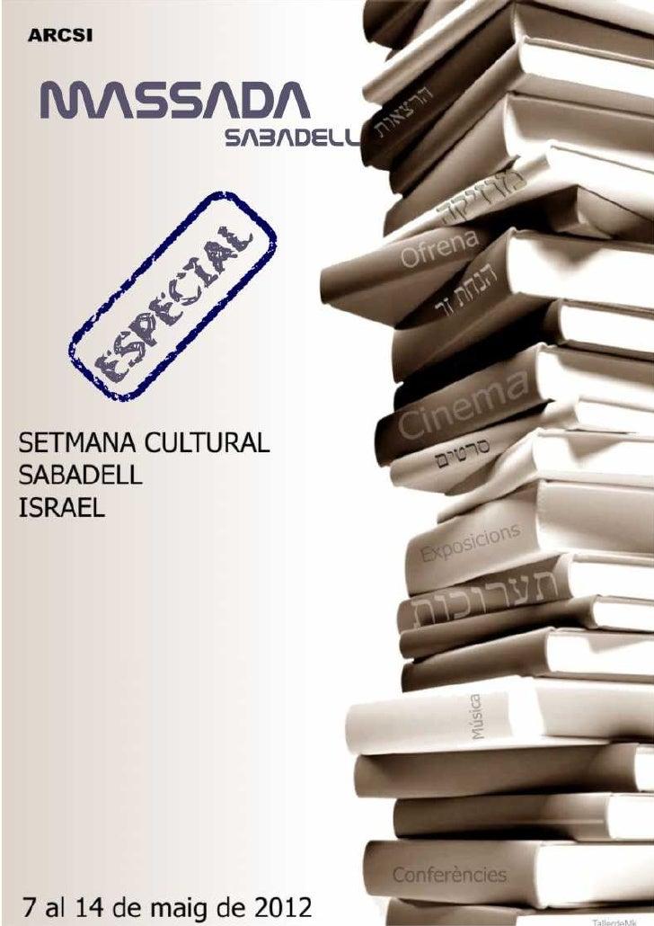 Massada Setmana Cultural 2012