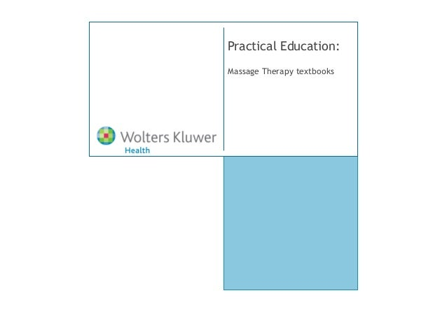 Practical Education:Massage Therapy textbooks