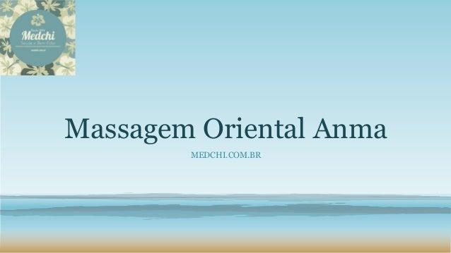 Massagem Oriental Anma MEDCHI.COM.BR