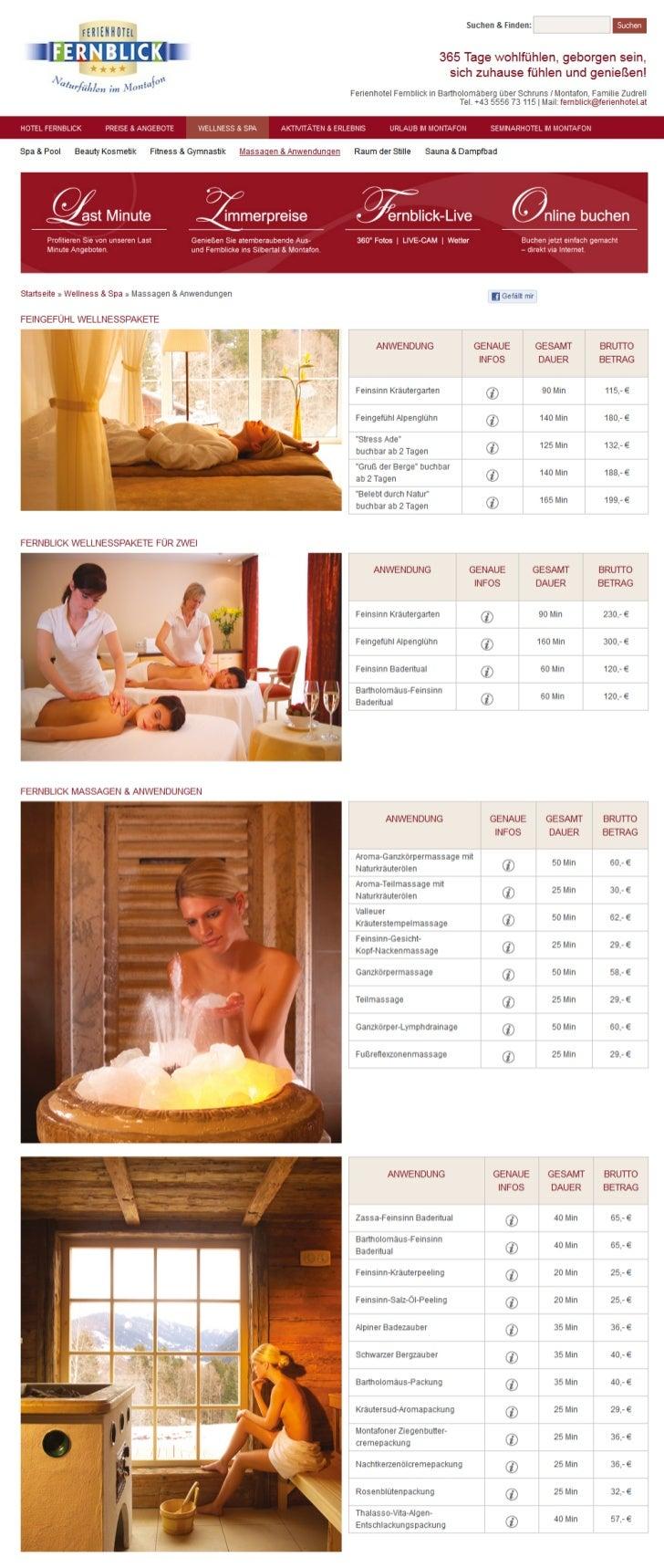 Massagen im Hotel Fernblick