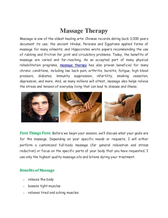 Massage therapy dating clients