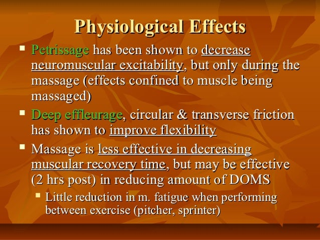 the purpose of massage therapies Deep tissue massage purpose deep tissue massage centers on realigning the deeper layers of connective and muscle tissue it aims to release the chronic patterns of tension in the body through slow strokes and deep finger pressure on the tense areas, either following or going across the fiber's of the muscles, tendons and fascia.