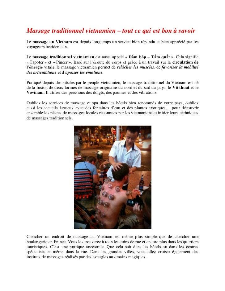 Massage traditionnel vietnamien